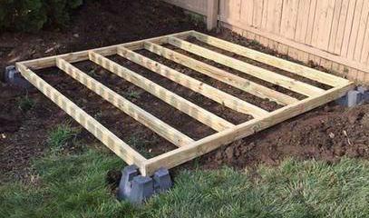 Cómo construir un suelo para un cobertizo Exterior
