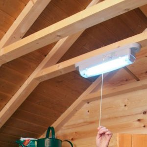 Instalación eléctrica para cobertizo de exterior