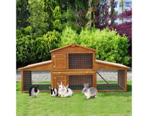caseta para conejos de madera